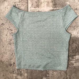 NWOT Blue Textured Top